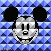 8 Bit-Block Mickey Blue