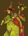 Feathered Hats Giclee