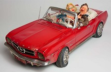 65 Ford Mustang Convertible 1/2 Scale