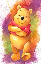 Lovable Bear Hand Textured Giclee on Canvas - From Disney Winnie the Pooh