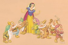 A Song and a Dance Giclee on Canvas - From Disney Snow White and the Seven Dwarfs