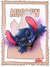 Stitch in Moscow