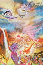The Arrival of Prince Ali Hand Embellished Giclee on Canvas - From Disney Aladdin