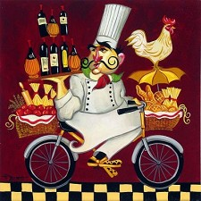Cacciatore Chef Giclee on Canvas