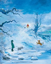Winter Giclee On Canvas - From Disney Winnie the Pooh