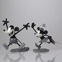 Mickey and Minnie B/W Maquettes