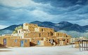 Approaching The Storm Over Taos Pueblo