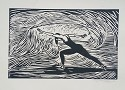 Etching Dancer Artist Signed
