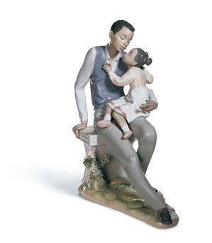 Lladro Black Legacy - Daddy's Little Sweetheart