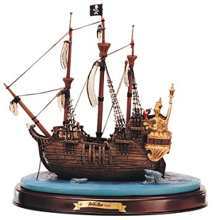 Lladro Peter Pan Captain Hook Ship Jolly Roger-11K-41209-0