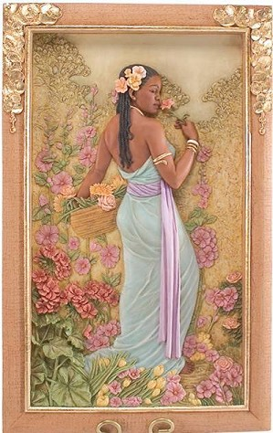 Ebony Visions - Spring Blossom Relief Panel