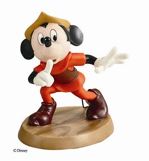Lladro Mickey And The Beanstalk Mickey Mouse Shhh-4007356