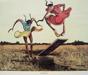 Ernie Barnes - Springboard-Unsigned