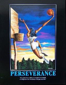 Ernie Barnes - Perseverance-Unsigned