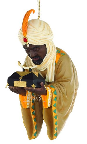 Ebony Visions - The Wise Man With Gold 2011 Ornament