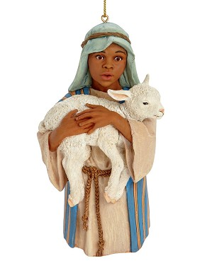 Ebony Visions - The Young Shepherd 2012 Ornament