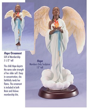 Ebony Visions - Hope - Deluxe  Blackshear Circle 2006 Membership Figurine And Kit