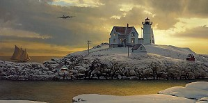 William Phillips Cape Neddick Dawn Limited Edition Print