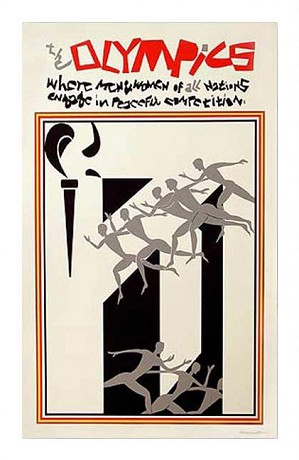 Romare Bearden - 1976 Olympics - Serigraph