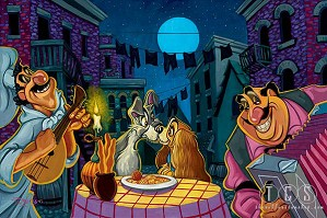 fine art Tim Rogerson _ Lamour - From Disney Lady and The Tramp