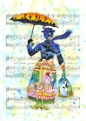 fine art Tim Rogerson _ A Mary Tune - From Disney Mary Poppins