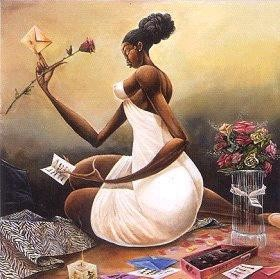 Frank Morrison - Love Letter - African American Fine Art African American Love Pictures