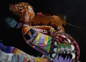 Frank Morrison - Mi Amor Lithograph