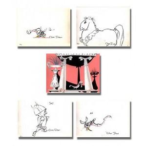 fine art Chuck Jones _ Whats Opera Doc? Layout Portfolio II