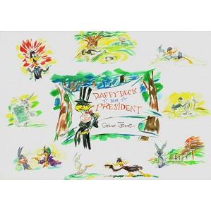 fine art Chuck Jones _ Daffy Duck For President