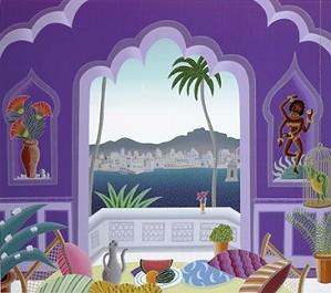 fine art Thomas McKnight _ Jaipur Lake Pavilion