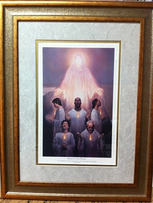 Keepers Of The Flame - Framed by Thomas Blackshear II Image is watermarked for copyright protection and is not present on the actual art work.