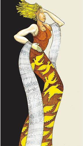 Charles Bibbs - Yellow Lady Giclee