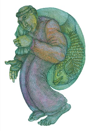 Charles Bibbs - Fishman Hand Enhanced -  Giclee