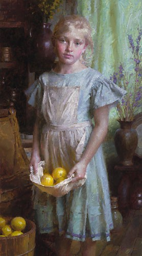 Lemon Girl by Morgan Westling Image is watermarked for copyright protection and is not present on the actual art work.