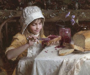 Strawberry Jam by Morgan Westling Image is watermarked for copyright protection and is not present on the actual art work.