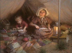 The Campers by Morgan Westling Image is watermarked for copyright protection and is not present on the actual art work.