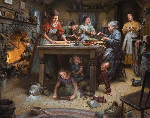 Family Traditions by Morgan Westling Image is watermarked for copyright protection and is not present on the actual art work.