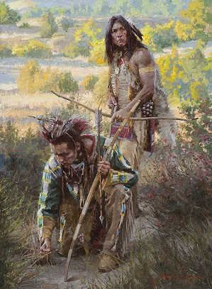 The Trackers by Morgan Westling Image is watermarked for copyright protection and is not present on the actual art work.