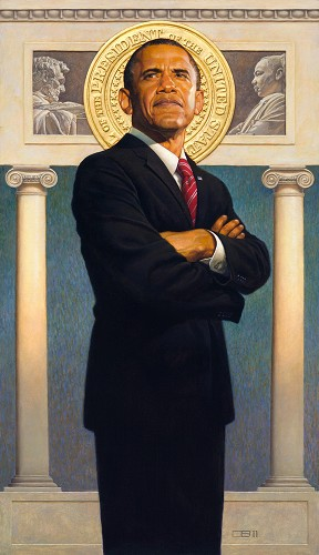 President Barack Obama Lithograph by Thomas Blackshear II Image is watermarked for copyright protection and is not present on the actual art work.