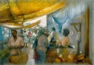 Brenda Joysmith - Canopies At Sav Market Giclee