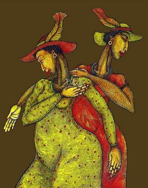 Charles Bibbs - Feathered Hats Giclee
