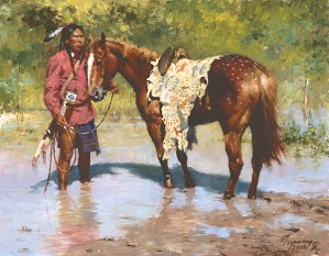 Howard Terpning Deeds Of His Father Smallwork Canvas Edition