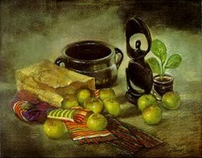 Brenda Joysmith - Still Life With Kinte Cloth