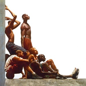 Kadir Nelson - Next Five Remarque Framed