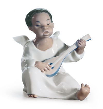 ANGEL by Lladro Black Legacy Image is watermarked for copyright protection and is not present on the actual art work.