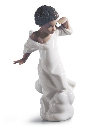 YOUR SPECIAL ANGEL  by Lladro Black Legacy Image is watermarked for copyright protection and is not present on the actual art work.