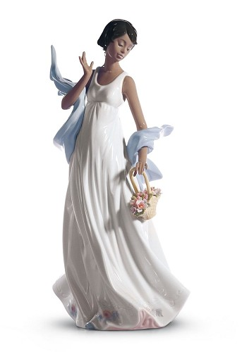 WINDS OF ROMANCE by Lladro Black Legacy Image is watermarked for copyright protection and is not present on the actual art work.