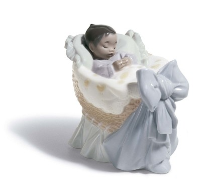 A NEW TREASURE (BOY) by Lladro Black Legacy Image is watermarked for copyright protection and is not present on the actual art work.