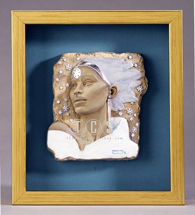Winter Plaque by Ebony Visions Image is watermarked for copyright protection and is not present on the actual art work.