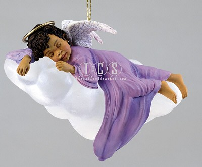 Heavenly Peace Ornament by Ebony Visions Image is watermarked for copyright protection and is not present on the actual art work.